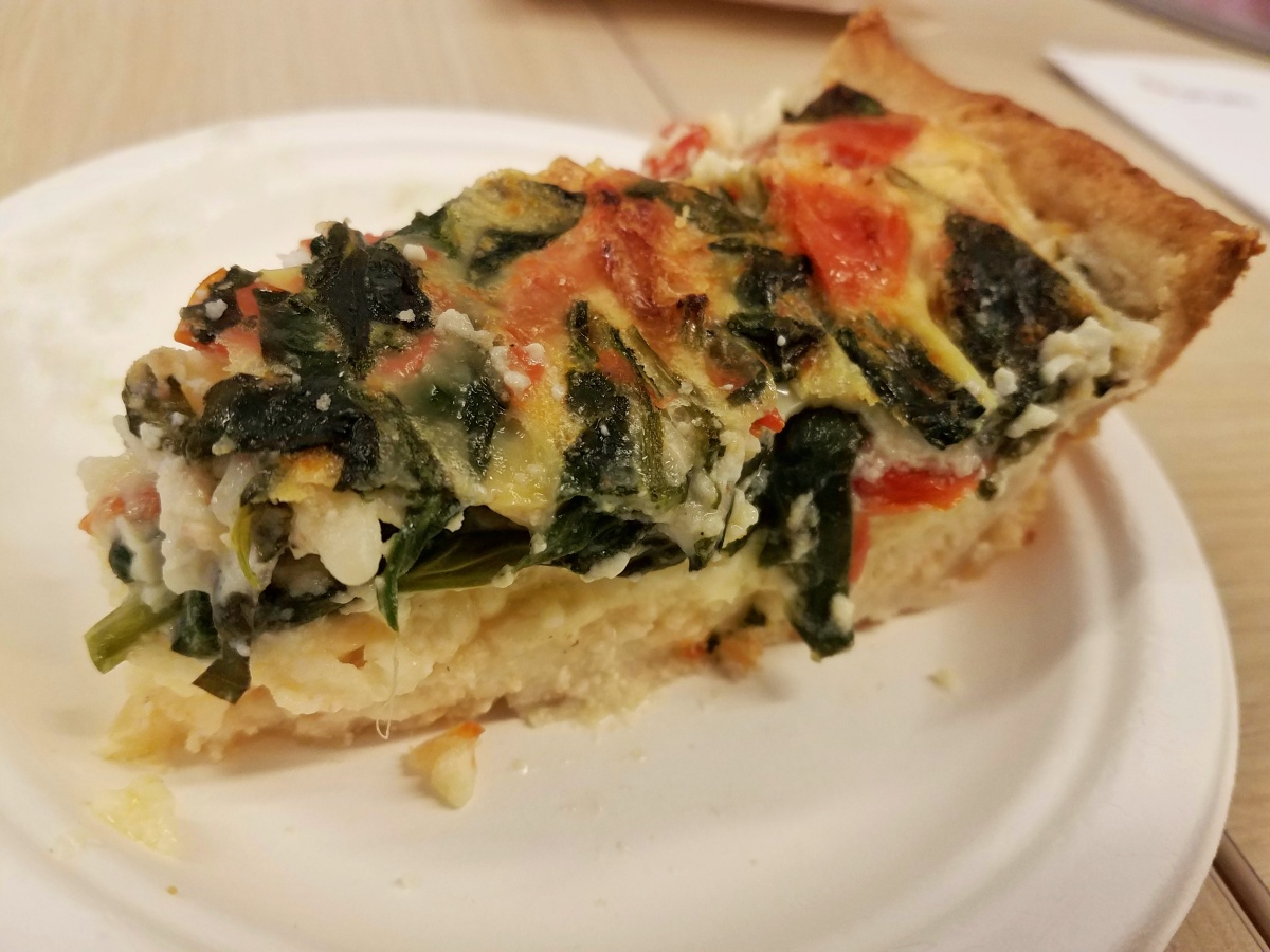 Meal Prep Monday: Spinach, Tomato and Cheese Quiche